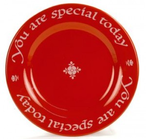 Coppins Gifts you are special red plate