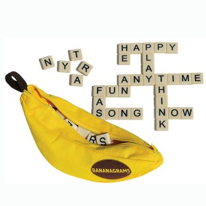 Throw the perfect holiday party for your kids with the Bananagrams Game!