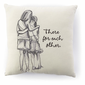 Pillow with Mother and Daughter Hugging near Quote | CoppinsGifts.com