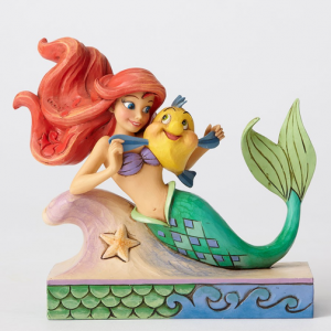 The Little Mermaid with Flounder Figurine | CoppinsGifts.com