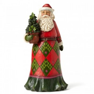 Heartwood Creek by Jim Shore Santa with Evergreen Figurine | CoppinsGifts.com
